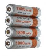Batteries 1800mAh, size AAA